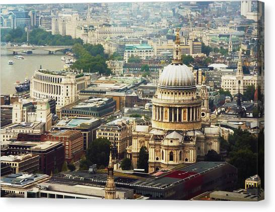 London Rooftops Canvas Print