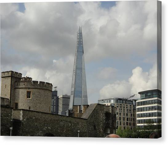 London Shard And Tower Canvas Print