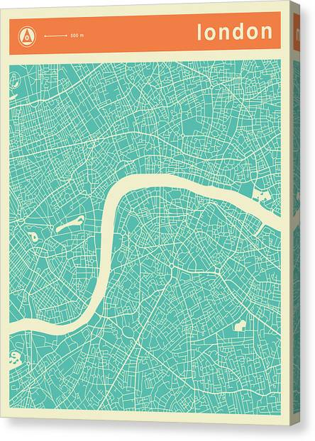 london streets canvas print london street map by jazzberry blue