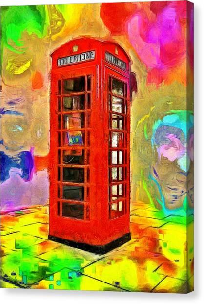Floor Canvas Print - London Telephone 1 - Da by Leonardo Digenio