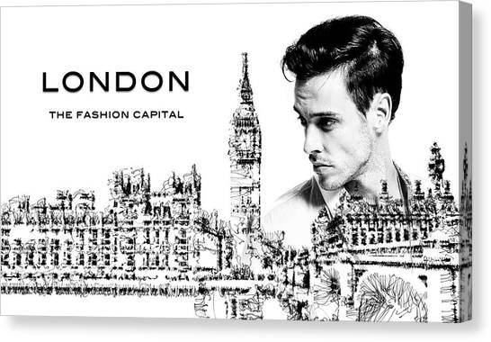 Canvas Print featuring the digital art London The Fashion Capital by ISAW Company