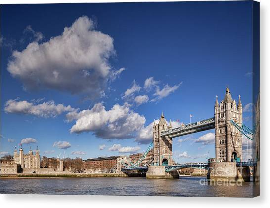 Tower Of London Canvas Print - London Tower Bridge by Colin and Linda McKie