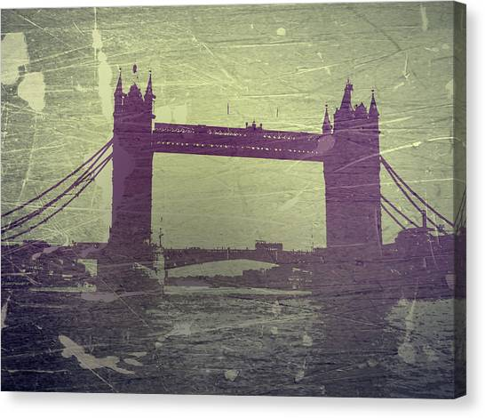Tower Bridge London Canvas Print - London Tower Bridge by Naxart Studio