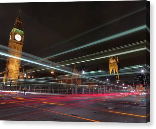 London Landmark Canvas Print - London Traffic by Mark A Paulda