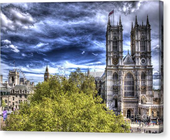 London Westminster Abbey Surreal Canvas Print