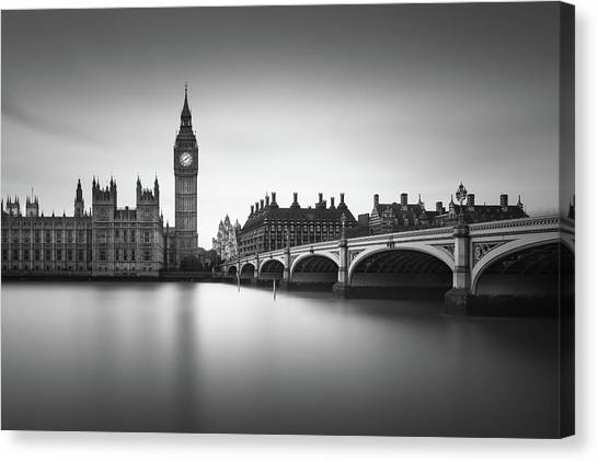 Parliament Canvas Print - London, Westminster Bridge by Ivo Kerssemakers