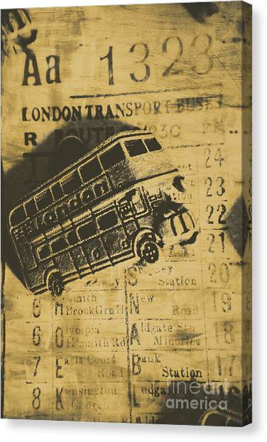 Antique Automobile Canvas Print - Londoners Run by Jorgo Photography - Wall Art Gallery