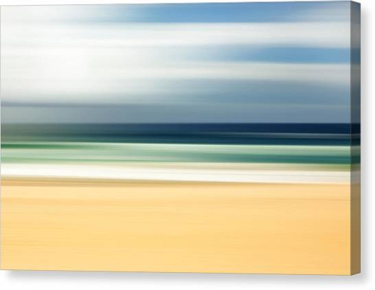 Fluids Canvas Print - Lone Beach by Az Jackson