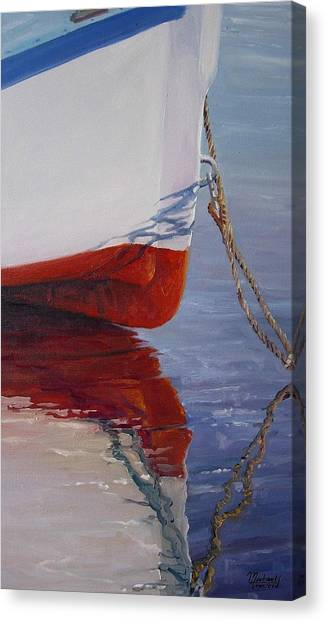 Lone Boat Canvas Print