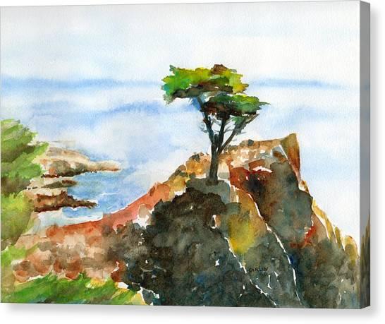 Lone Cypress Pebble Beach Fog Canvas Print