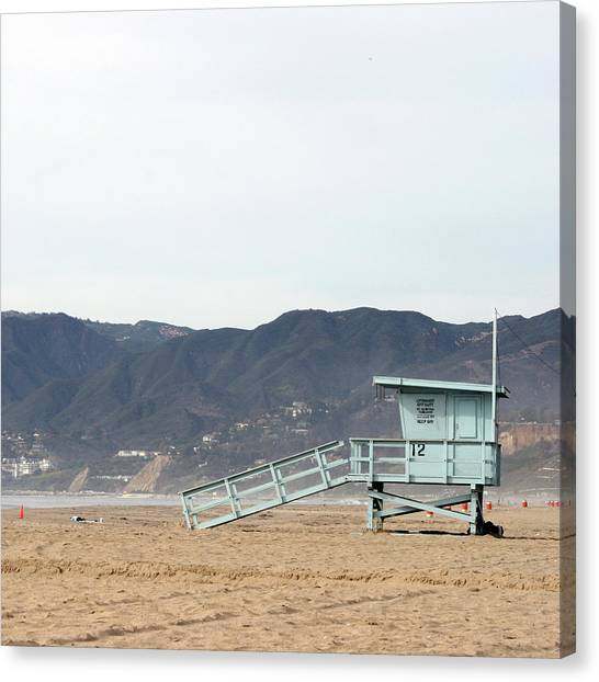 Lone Lifeguard Tower Canvas Print