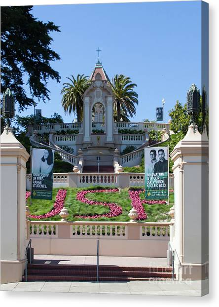Bachelors Degree Canvas Print - Lone Mountain College University Of San Francisco Usf 5d3282 by San Francisco Art and Photography
