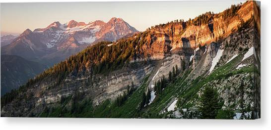 Lone Peak Wilderness Panorama Canvas Print