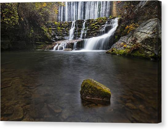 Lone Rock At The Falls Canvas Print
