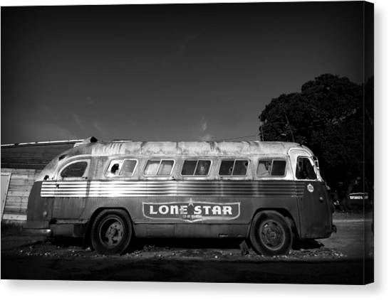Lone Star Bus 1 Canvas Print by John Gusky