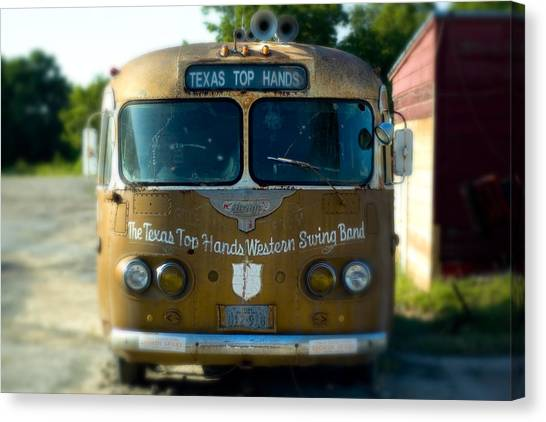 Austin Texas Canvas Print - Lone Star Bus 4 by John Gusky