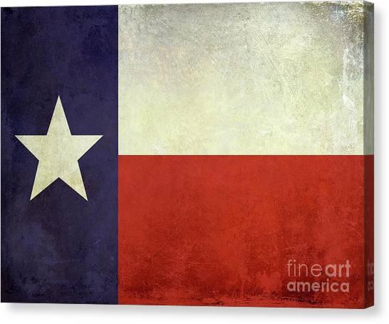 Dallas Stars Canvas Print - Lone Star Flag by Jon Neidert