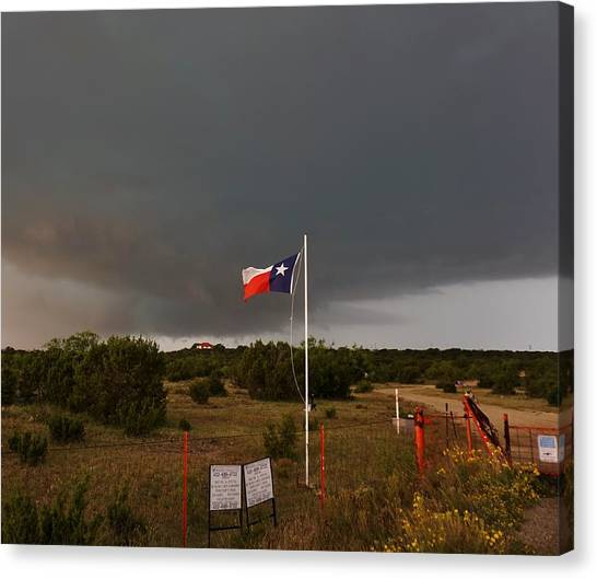 Lone Star Supercell Canvas Print