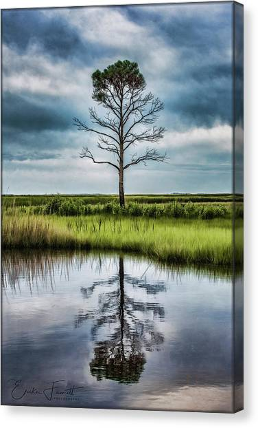 Lone Tree Reflected Canvas Print