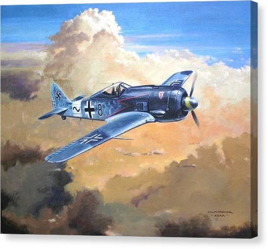 'lone Warrior Fw190' Canvas Print
