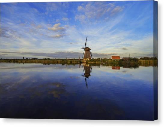 Holland Canvas Print - Lone Windmill by Chad Dutson
