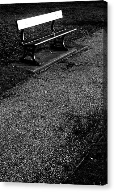 Lonely Bench Canvas Print by Jez C Self