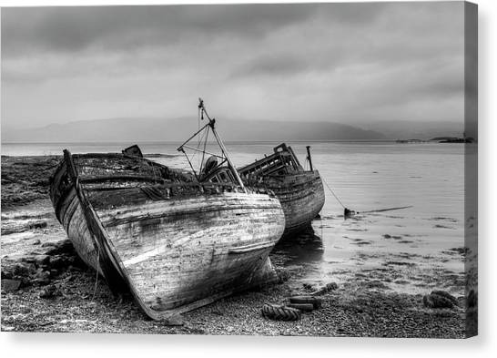 Lonely Fishing Boats Canvas Print