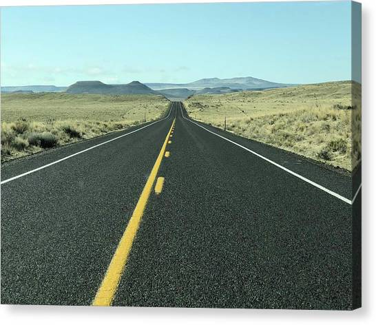 Lonely Highway Canvas Print