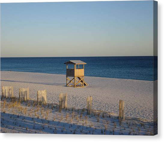 Lonely Lifeguard Canvas Print by Navarre Photos