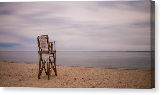 Lonely Lifeguard Canvas Print by Paul Treseler