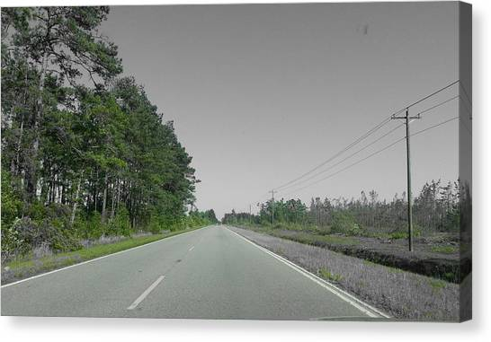 Lonely Road Canvas Print by Chris Short