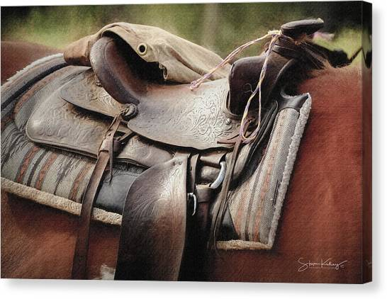 Lonely Saddle  Canvas Print