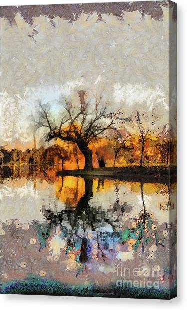 Lonely Tree And Its Thoughts Canvas Print