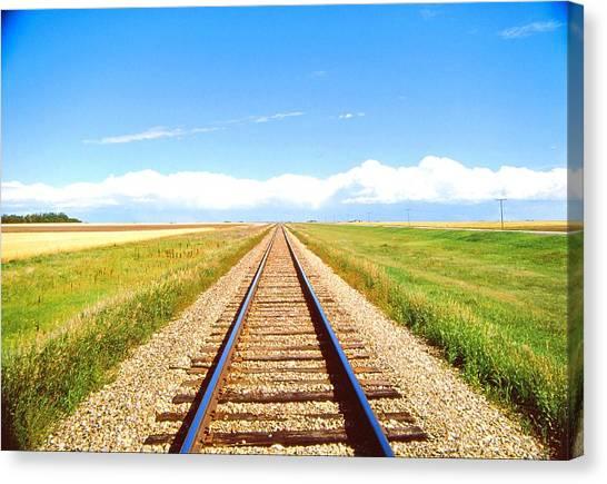 Lonesome Railroad Canvas Print