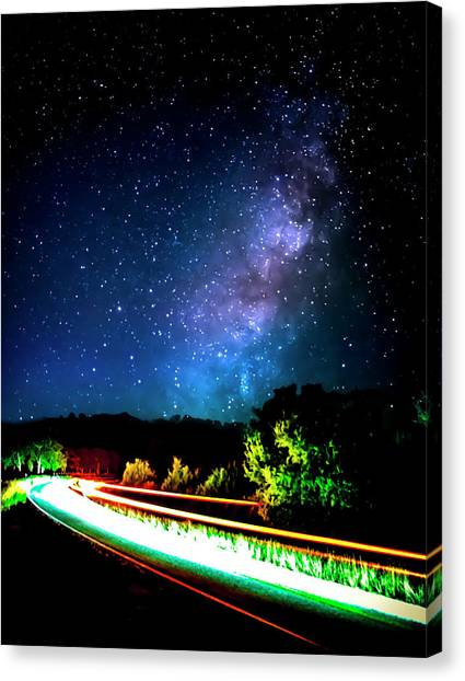 United Way Canvas Print - Lonesome Texas Highway by David Morefield