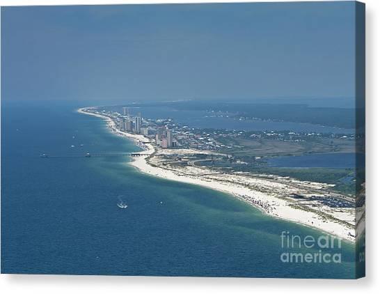 Long, Aerial, Beach View Canvas Print