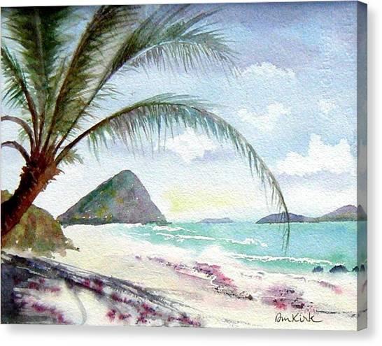 Long Bay Shadows Canvas Print