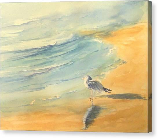 Long Beach Bird Canvas Print