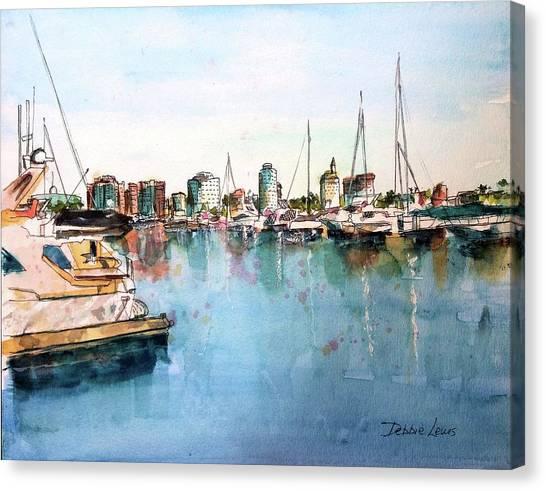 Long Beach Coastal View Canvas Print