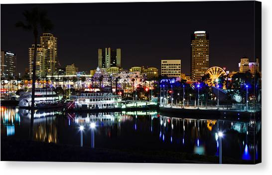 Long Beach Lights Canvas Print