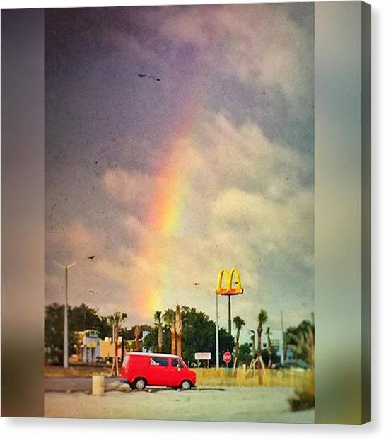 Rainbows Canvas Print - Long Beach, Ms #rainbow #msgulfcoast by Joan McCool