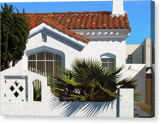 Michael Ward Canvas Print - Long Beach Number 3 by Michael Ward
