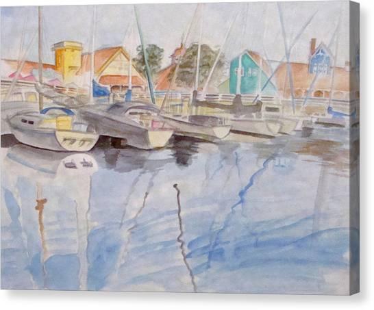 Long Beach Pier Canvas Print by Jennifer Hotai