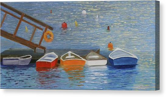 Long Cove Dock Canvas Print