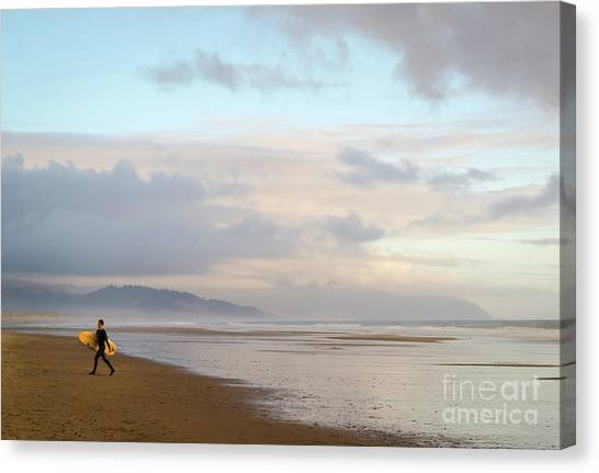 Long Day Surfing Canvas Print