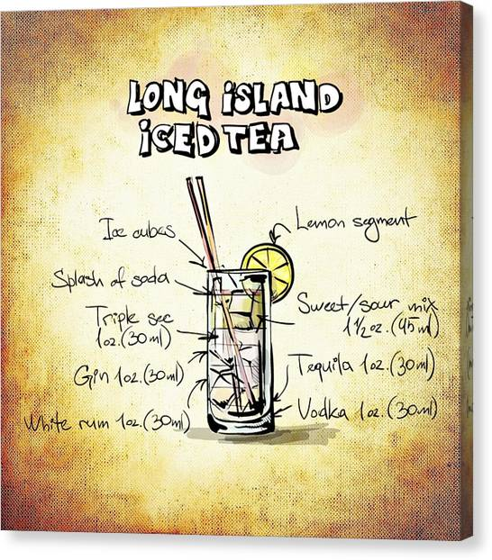 Iced Tea Canvas Print - Long Island Iced Tea by Movie Poster Prints
