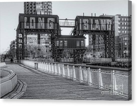 Long Island Railroad Gantry Cranes Iv Canvas Print