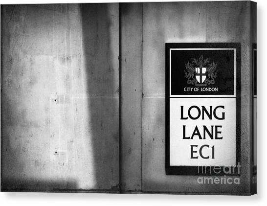 Street Rods Canvas Print - Long Lane Ec1 by Rod McLean
