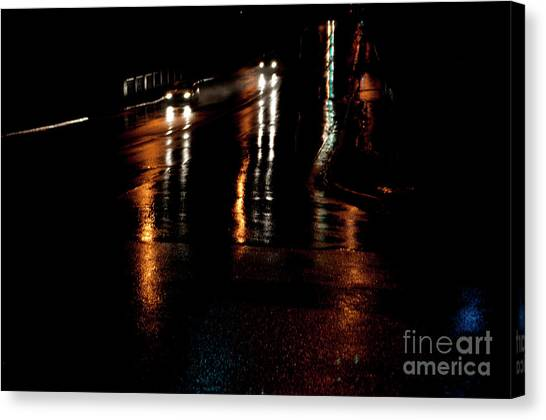 Long Lights At Night Canvas Print by Gary Chapple