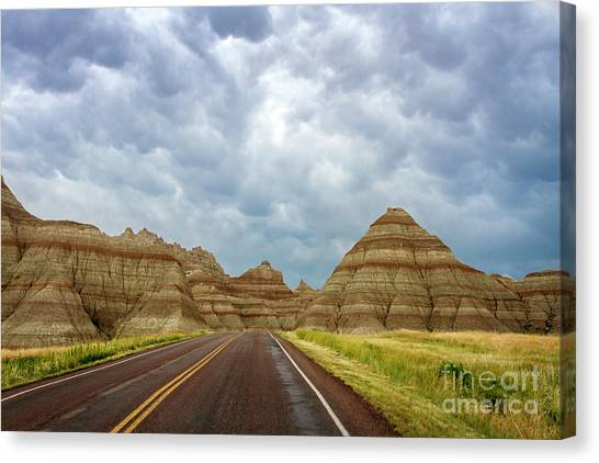 Long Lonesome Highway Canvas Print